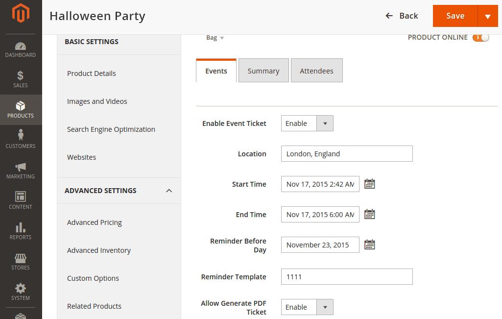 Event Magento Themes