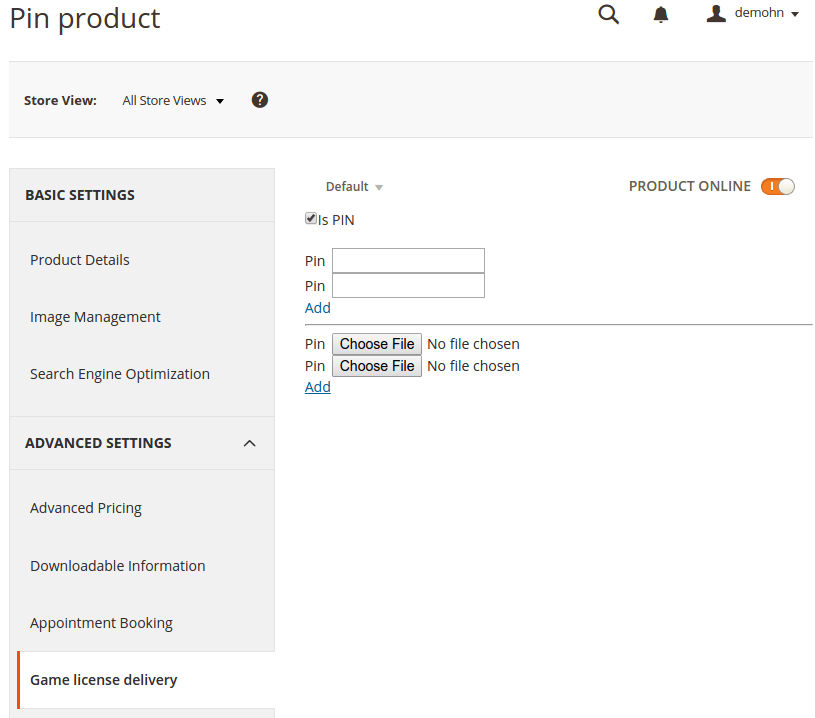 magento 2 license product