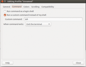 Setup zsh as default shell