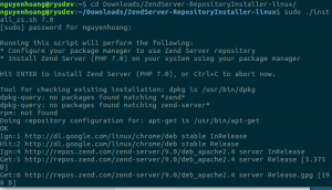 how to install Magento 2 running on Zend Server on Ubuntu zend install