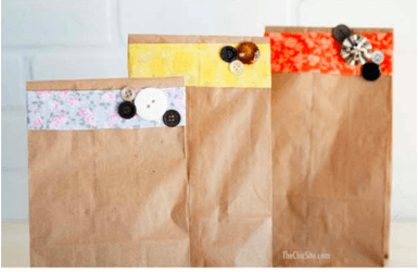 How to make a paper bag out of gift wrapper