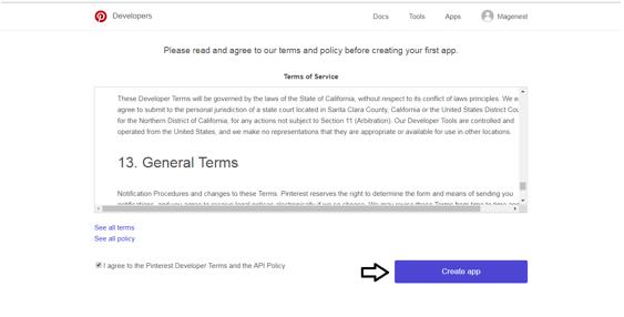 Configure Pinterest API in Magento 2