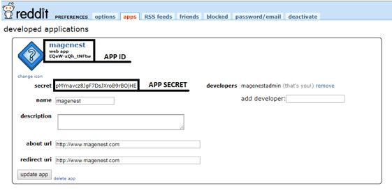 configure Reddit API in Magento 2