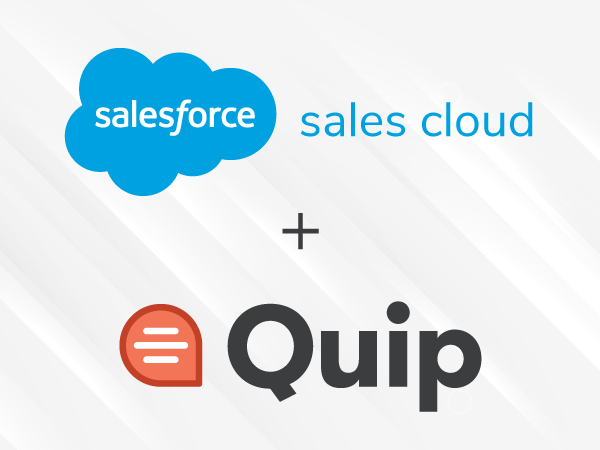 Sales Cloud integrates with Quip