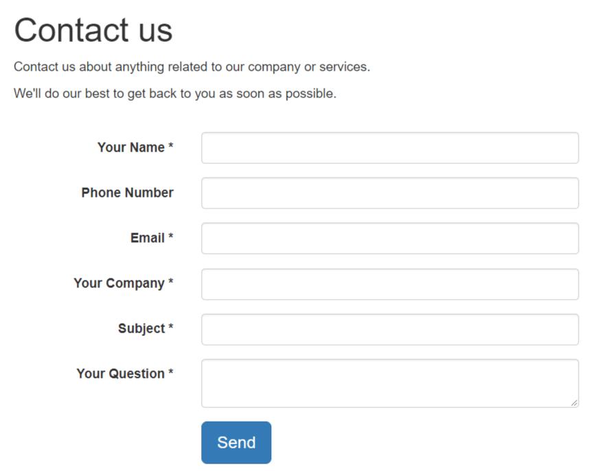 sử dụng contact us