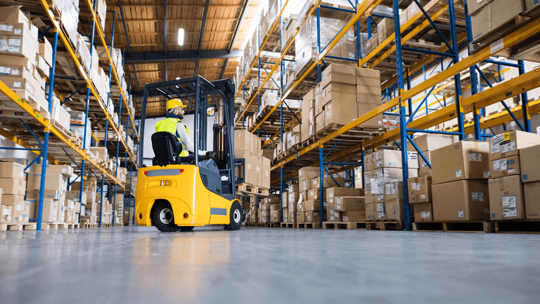 What is warehousing in logistics?
