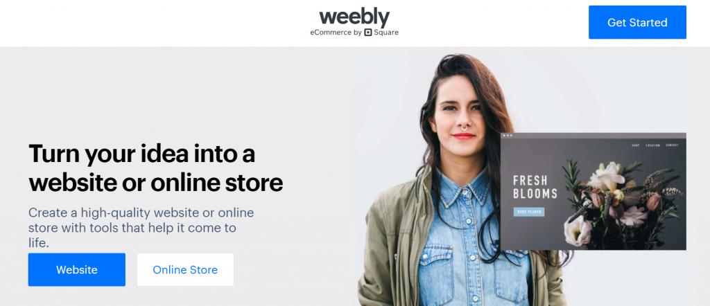 Top best free eCommerce website builders: Weebly website
