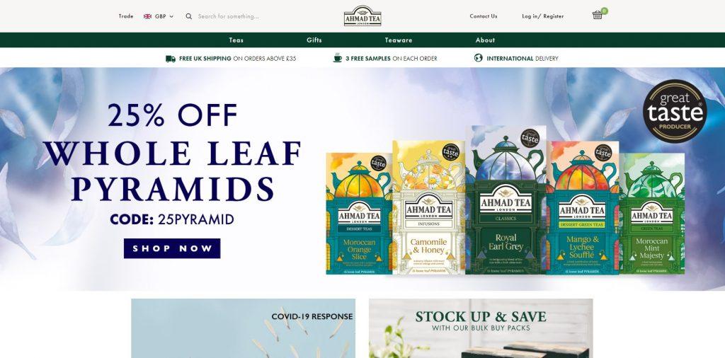 ahmad website thương mại điện tử trên máy tính