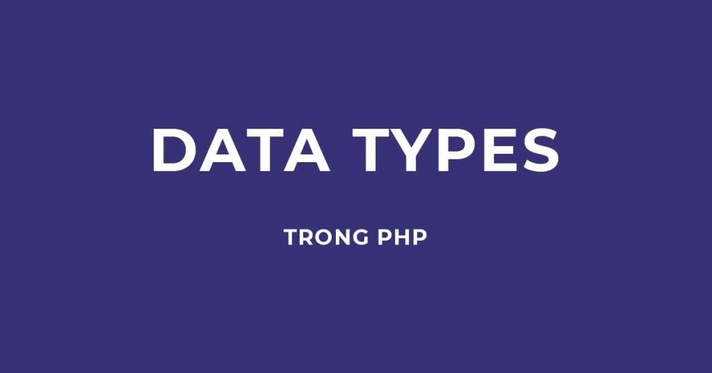 các kiểu dữ liệu trong ngôn ngữ lập trình