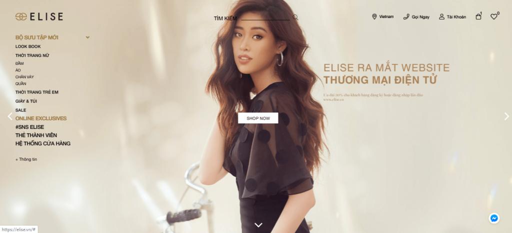 thiết kế ui/ux cho website thương mại điện tử elise