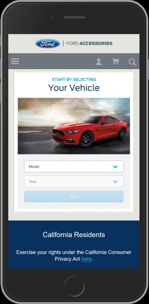 webstite ford thương mại điện tử magento trên mobile