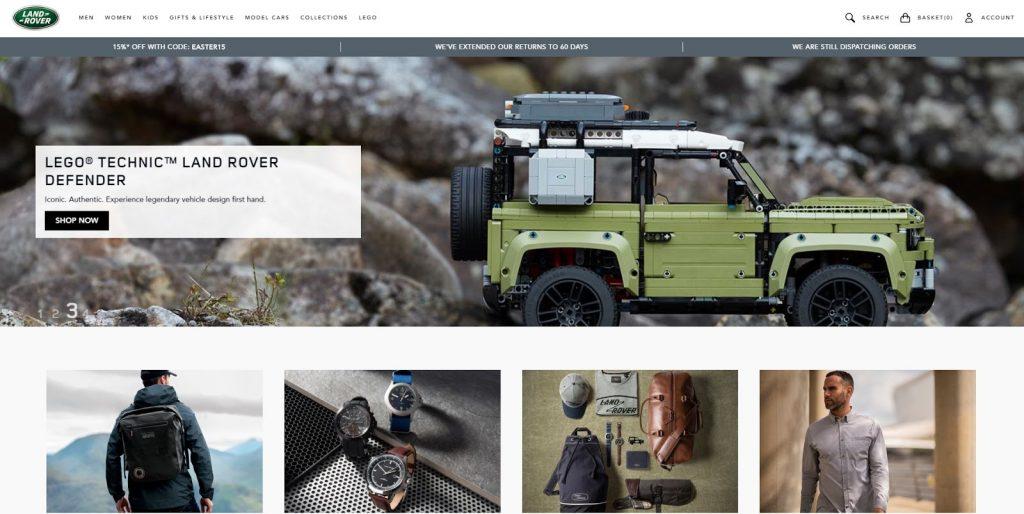 website landrover thương mại điện tử