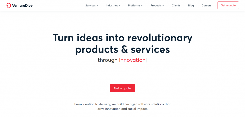 VentureDive Best eCommerce website development company