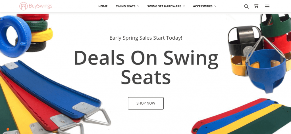 BuySwings carries a wide variety of swing set accessories, swing seats, chains, etc