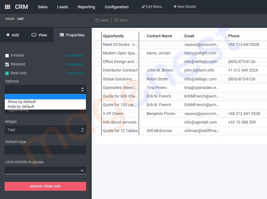 hiển thị custom field theo mặc định trong list view